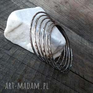 urokliwe bransoletka bangle bransoleta okrągła - srebro