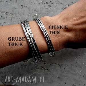 bransoletki srebrna bransoleta okrągła bangle - gruba