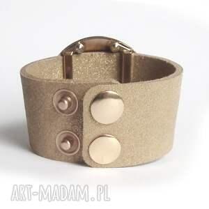 atrakcyjne bransoletki skórzana bransoleta złota tarcza