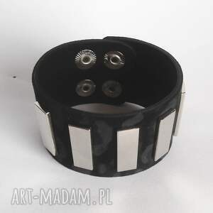 bransoletki skóra bransoleta skórzana czarna panterka