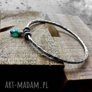 intrygujące charms bransoleta - srebro i kwarc rama