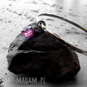 różowe bransoletki z-kamieniem bransoleta - srebro i kwarc
