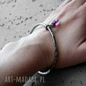 hand made bransoletki elegancka bransoleta - srebro i kwarc