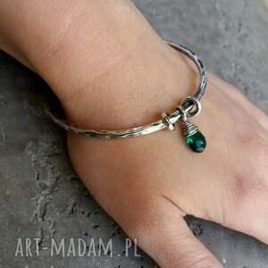 charms zielone nowoczesna bransoleta wykonana ręcznie