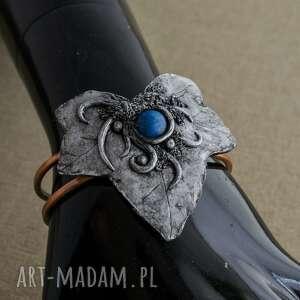 bransoleta bransoletki niebieskie w kształcie liścia