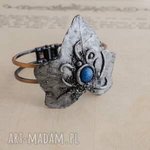 brązowe bransoletki bransoletka bransoleta w kształcie liścia