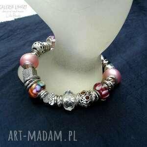efektowna bransoletki bransoleta w odcieniach różu. mix