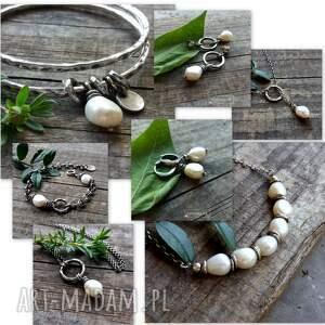 bransoletki gruba bransoleta z perłami - masywna