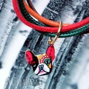 skóra bransoletki kolorowe bransoletka buldog francuski ::