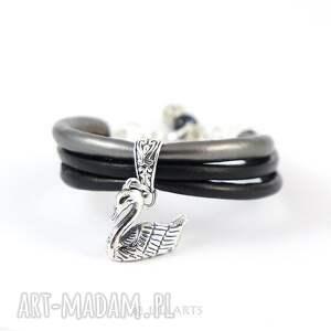 atrakcyjne bransoletka - czarny łabędź