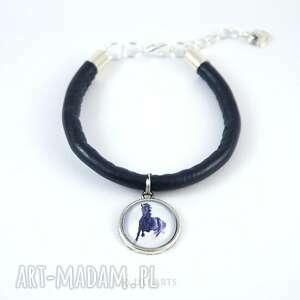 eleganckie bransoletki bransoletka - czarny koń