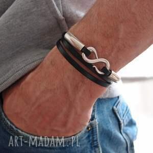 hand-made bransoletki skóra bransoletka infinity