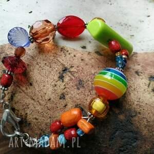 ręcznie robione bransoletka kolorowa optymistyczna