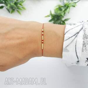 bransoletka koralikowa for luck - family (złota) - piękna bransoletki
