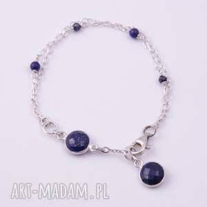 niebieskie bransoletki delikatna bransoletka lapis lazuli