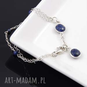 srebrna bransoletki bransoletka lapis lazuli
