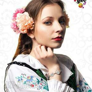 urokliwe polski bransoletka ludowe serce