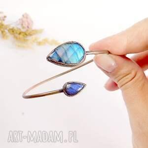 niebieskie miedziana bransoletka