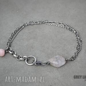 eleganckie srebro bransoletka mini z kunzytem