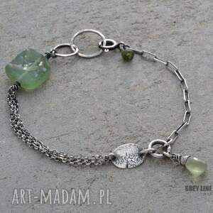 handmade bransoletki srebro bransoletka mini ze szkłem