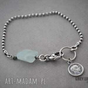 gustowne bransoletki srebro bransoletka mini z akwamarynem v. 4