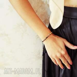 niepowtarzalne minimalistyczna bransoletka minimal - autumn pink