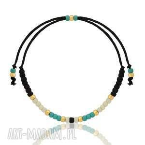 Ilovehandmade Bransoletka Minimal - Autumn Black - złota - minimalistyczna