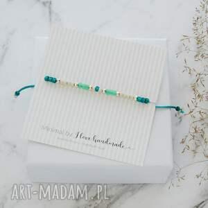 srebrne minimalistyczna bransoletka minimal - autumn bootle