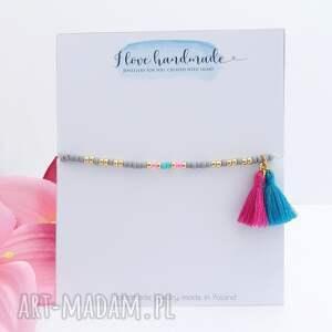unikalne bransoletki bransoletka na kostkę - candy floss