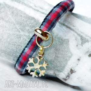 upominek świąteczny bransoletka na prezent- ze złotą