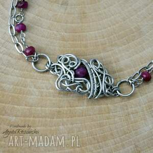 ręcznie zrobione bransoletka naturalny rubin, wire