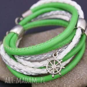 hand made bransoletka owijana zielona