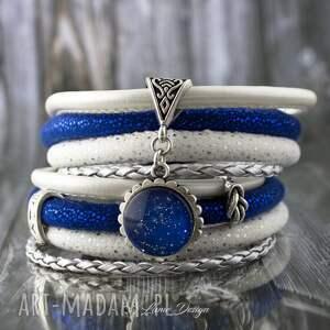 niebieskie bransoletki oplatana bransoletka rzemienna stardust