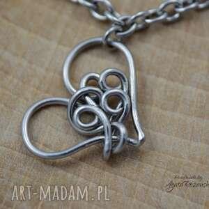 ręcznie robione bransoletka serca swarovski, wire