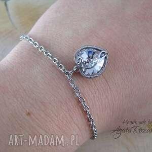 handmade bransoletki bransoletka serce swarovski, wire