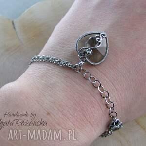 bransoletki swarovski bransoletka serce swarovski, wire