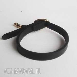 bransoletka skórzana mini czarna