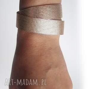 bransoletki skóra bransoletka skórzana owijana różowe