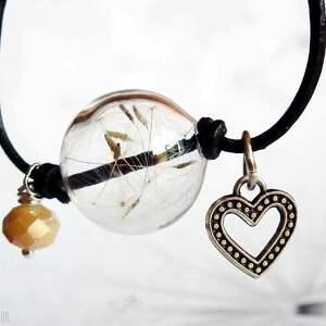 handmade bransoletki szklana bransoletka skórzana z kulą