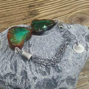 turkusowe bransoletka srebrna z przepięknymi