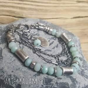 bransoletki bransoletka-amazonit bransoletka srebrna z amazonitem