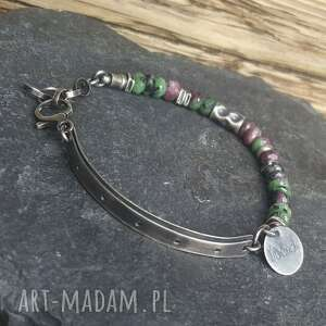 biżuteria na prezent bransoletka srebrna z zoisytami