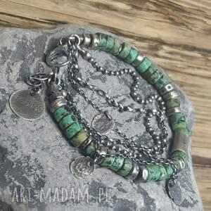 biżuteria-na-prezent bransoletki bransoletka srebrna z turkusami