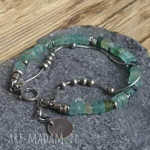 modne bransoletki srebro-oksydowane bransoletka srebrna ze szkłem