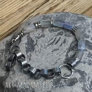 srebro-oksydowane bransoletki bransoletka srebrna z labradorytami