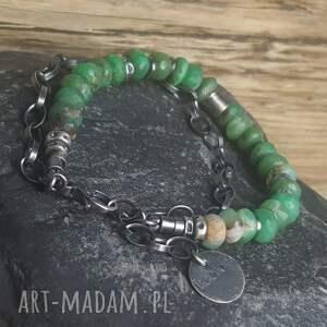 biżuteria-prezent bransoletki bransoletka srebrna z chryzoprazami