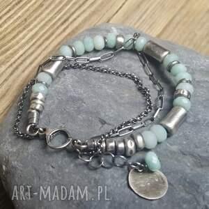 bransoletka-amazonit bransoletki bransoletka srebrna z amazonitem