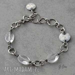 kryształ górski bransoletka srebrna z kryształem