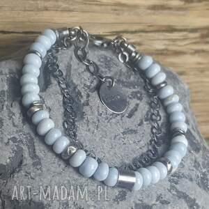 srebro-oksydowane bransoletki bransoletka srebrna z opalami