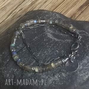 bransoletki metaloplastyka bransoletka srebrna z labradorytami